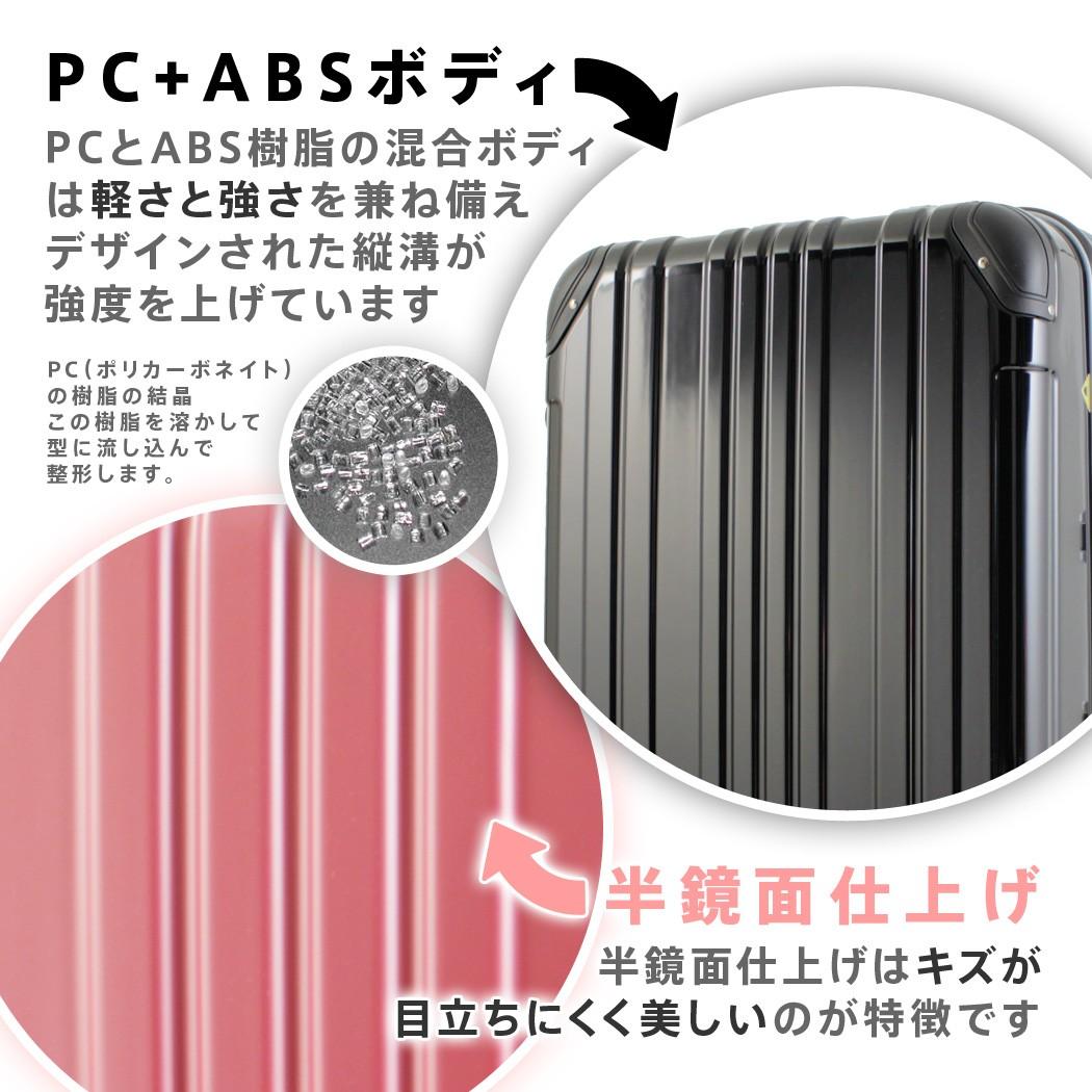 スーツケース 5022 軽量ポリカーボネイト+ABS樹脂混合の美しい半鏡面ボディ