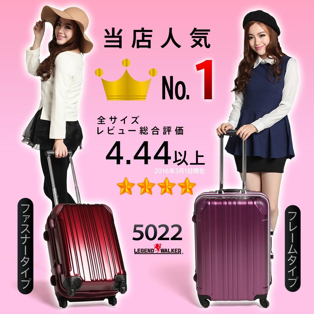 スーツケース 5022 シリーズ世界累計販売台数20万台 楽天上位常連 店内売上ダントツ1位