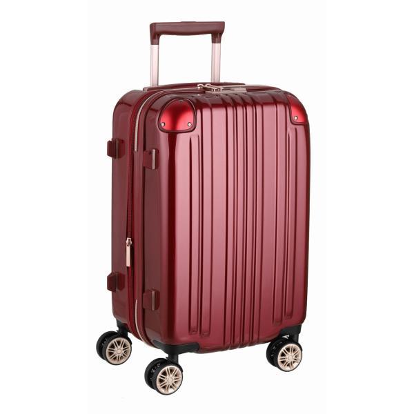 アウトレット スーツケース キャリーケース キャリーバッグ トランク 小型 軽量 Sサイズ おしゃれ 静音 ハード ファスナー 拡張 B-5122-55|marienamaki|23