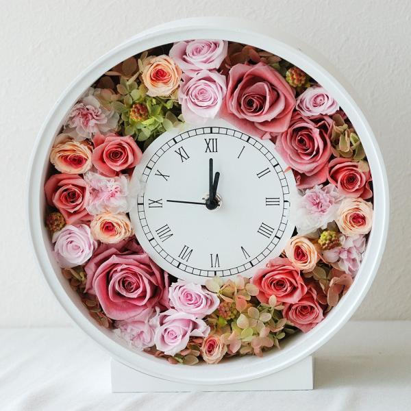 還暦祝い 女性『花時計』プリザーブドフラワー 結婚祝い ギフト 誕生日祝い 還暦祝い 豪華|marika|20
