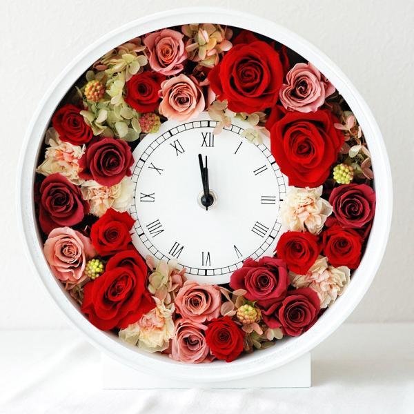 還暦祝い 女性『花時計』プリザーブドフラワー 結婚祝い ギフト 誕生日祝い 還暦祝い 豪華|marika|21