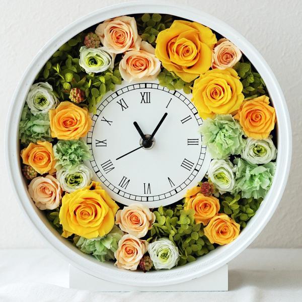 還暦祝い 女性『花時計』プリザーブドフラワー 結婚祝い ギフト 誕生日祝い 還暦祝い 豪華|marika|24