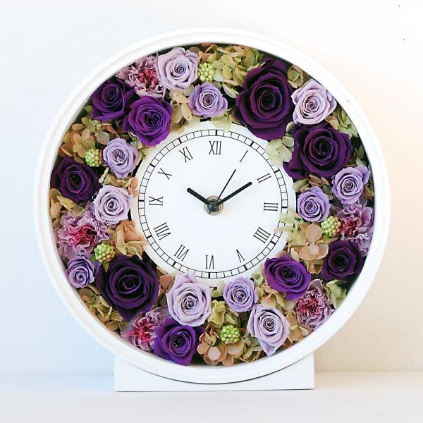 還暦祝い 女性『花時計』プリザーブドフラワー 結婚祝い ギフト 誕生日祝い 還暦祝い 豪華|marika|25