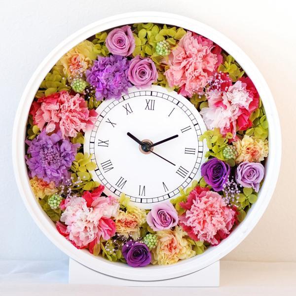 還暦祝い 女性『花時計』プリザーブドフラワー 結婚祝い ギフト 誕生日祝い 還暦祝い 豪華|marika|26