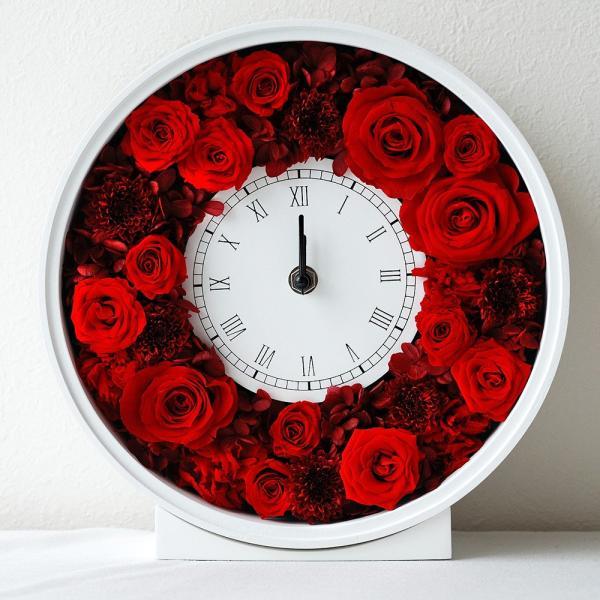 還暦祝い 女性『花時計』プリザーブドフラワー 結婚祝い ギフト 誕生日祝い 還暦祝い 豪華|marika|27