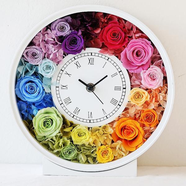 還暦祝い 女性『花時計』プリザーブドフラワー 結婚祝い ギフト 誕生日祝い 還暦祝い 豪華|marika|28