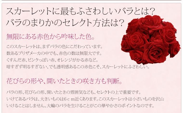 赤いバラのプリザーブドフラワーギフト