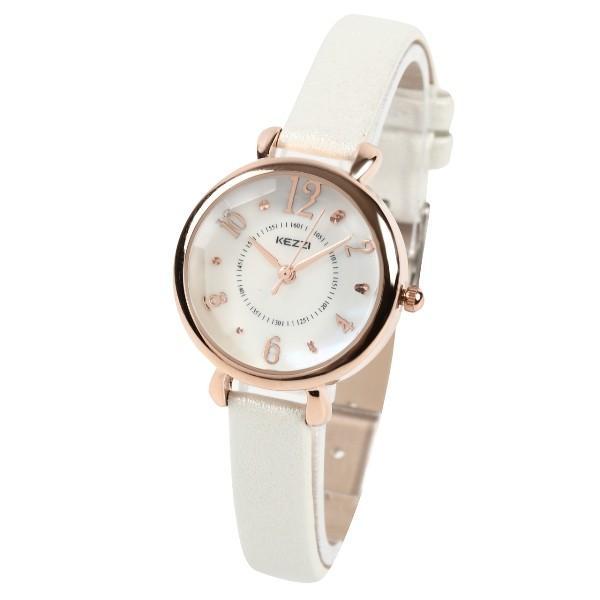 レディース ファッション 腕時計 一般防水 時計 カラー PUベルト ブラック ライトブルー ピンク ホワイト|markgraf|08