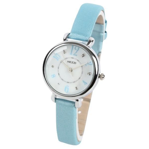 レディース ファッション 腕時計 一般防水 時計 カラー PUベルト ブラック ライトブルー ピンク ホワイト|markgraf|06