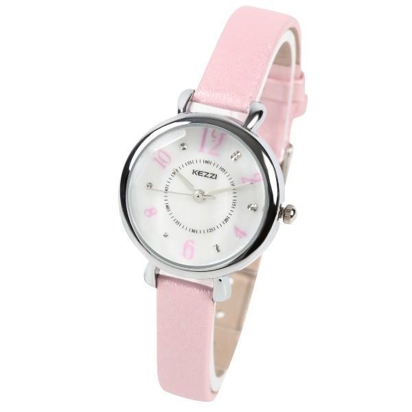 レディース ファッション 腕時計 一般防水 時計 カラー PUベルト ブラック ライトブルー ピンク ホワイト|markgraf|07