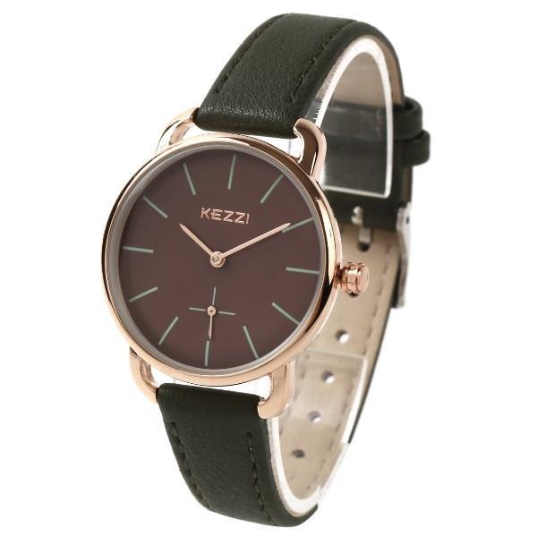 レディース ファッション 腕時計 時計 カラー 防水PUベルト ブラック ピンク ホワイト ブラウン ダークグリーン ダークブルー|markgraf|09