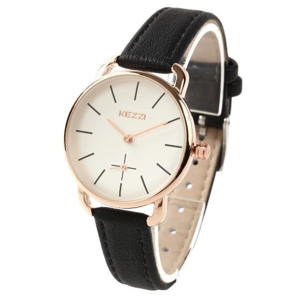 レディース ファッション 腕時計 時計 カラー 防水PUベルト ブラック ピンク ホワイト ブラウン ダークグリーン ダークブルー|markgraf|08