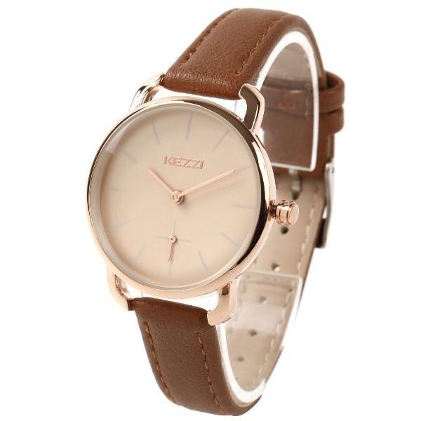 レディース ファッション 腕時計 時計 カラー 防水PUベルト ブラック ピンク ホワイト ブラウン ダークグリーン ダークブルー|markgraf|07