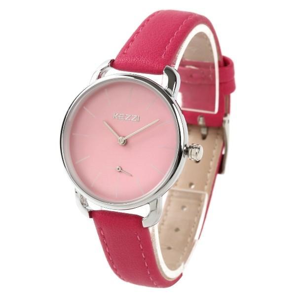 レディース ファッション 腕時計 時計 カラー 防水PUベルト ブラック ピンク ホワイト ブラウン ダークグリーン ダークブルー|markgraf|06