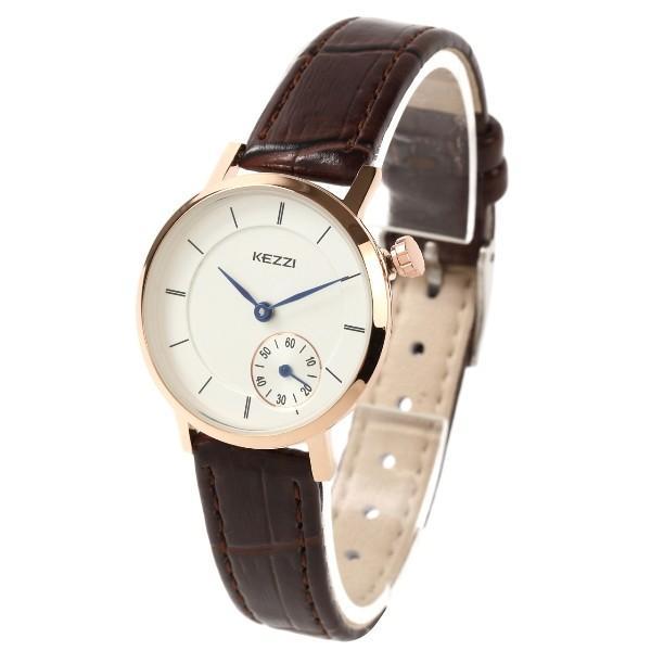 レディース ファッション 腕時計 時計 カラー 防水PUベルト ブラック ホワイト ブラウン おしゃれ カジュアル markgraf 06