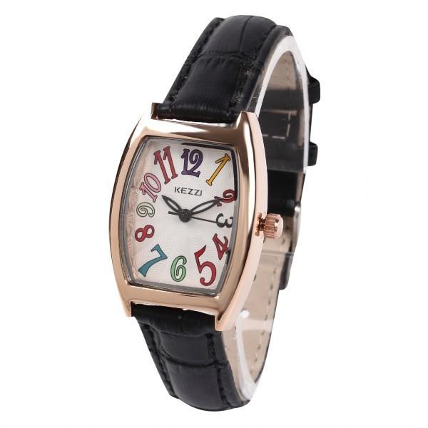 レディース ファッション 一般防水 腕時計 時計 カラー 本革ベルト ブラック グリーン ブルー|markgraf|07