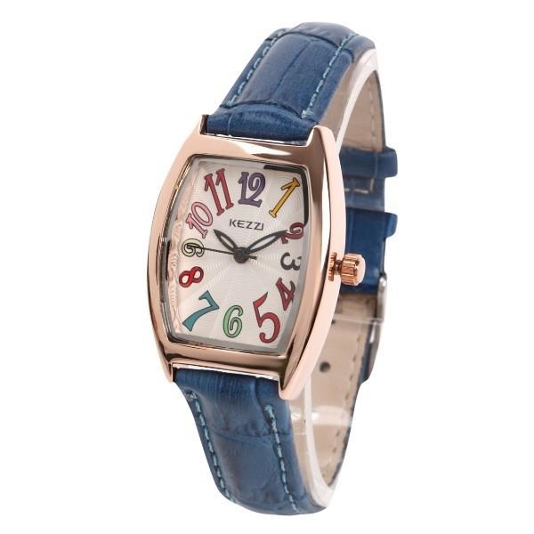 レディース ファッション 一般防水 腕時計 時計 カラー 本革ベルト ブラック グリーン ブルー|markgraf|05