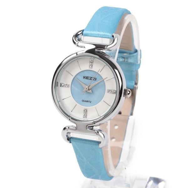 レディース ファッション 腕時計 時計 カラー 防水PUベルト ブラック ライトブルー ピンク レッド ホワイト|markgraf|06
