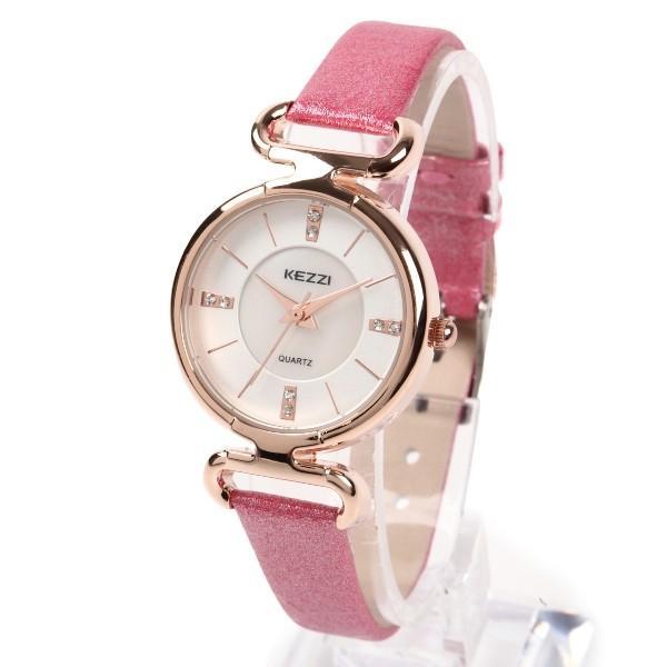 レディース ファッション 腕時計 時計 カラー 防水PUベルト ブラック ライトブルー ピンク レッド ホワイト|markgraf|08
