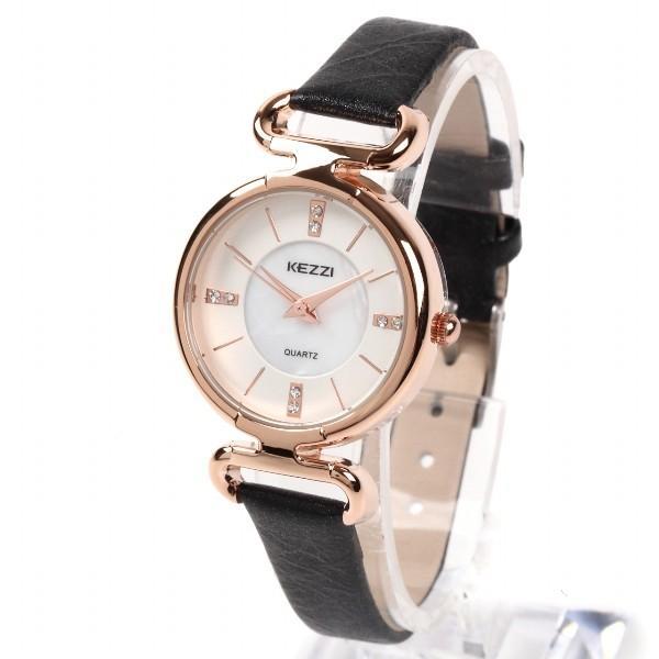 レディース ファッション 腕時計 時計 カラー 防水PUベルト ブラック ライトブルー ピンク レッド ホワイト|markgraf|05