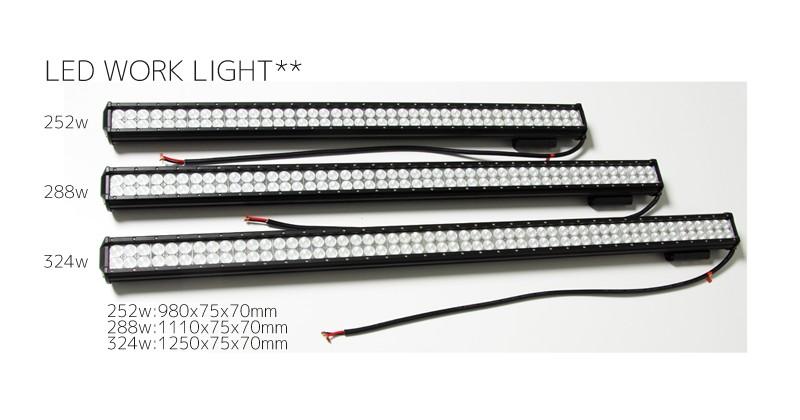 LEDワークライト(作業灯)252w 288w 324w
