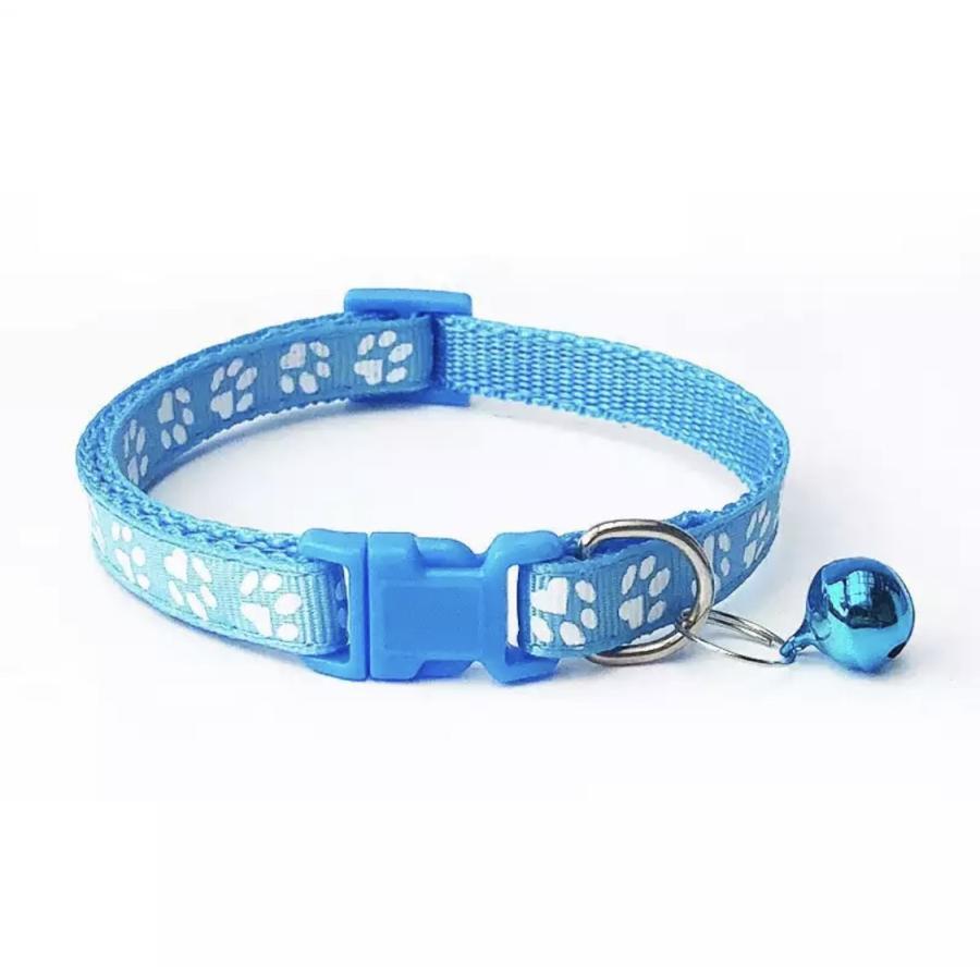 ペット用首輪 小型犬用首輪 猫用首輪 いぬ首輪 ねこ首輪 肉球柄 鈴付き 首輪肉球い maruhachipetshop 16