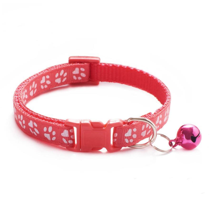 ペット用首輪 小型犬用首輪 猫用首輪 いぬ首輪 ねこ首輪 肉球柄 鈴付き 首輪肉球い maruhachipetshop 25
