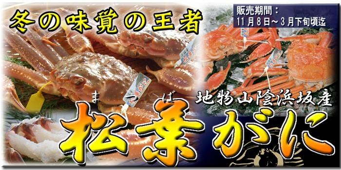 期間限定 山陰浜坂産の生・ゆで松葉がにはコチラから!