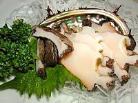 蝦夷アワビ刺身
