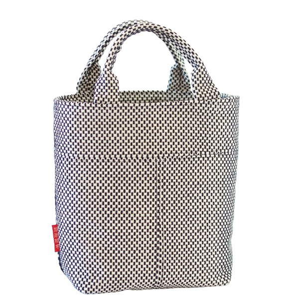 ミニトートバッグ 12S 刺し子 スクエア ミニバッグ 厚手 小さめ お出掛け 和 和風 布製 サブバッグ 綿100%