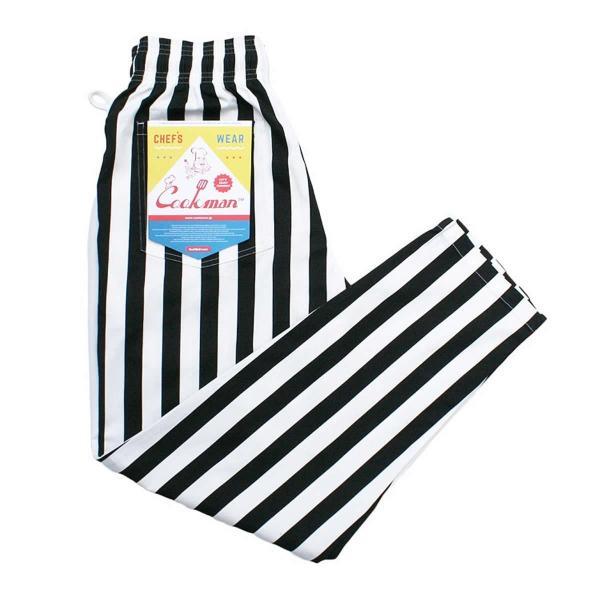 クックマン シェフパンツ ストライプ Cookman Chef Pants 「Wide stripe」 Black|mash-webshop|07