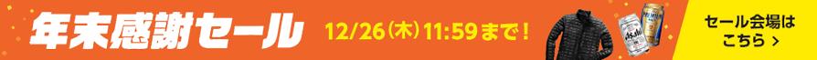 【年末感謝セール】12月26日(木) 11時59分まで! →【セール会場はこちら】