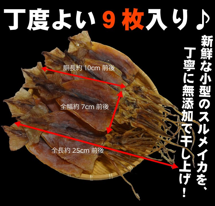 無添加の北海スルメ