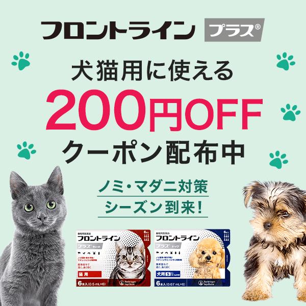 犬猫用フロントラインプラスに使える200円OFFクーポン