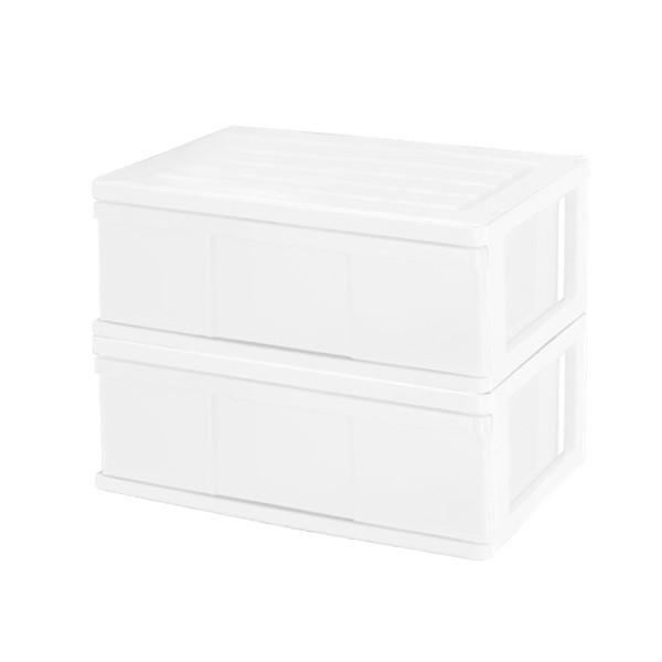 収納ケース 引き出し ワイド カラフルチェスト プラスチック 完成品 1段 2個組 幅60cm おしゃれ ブラウン 日本製|maxjapan-store|21