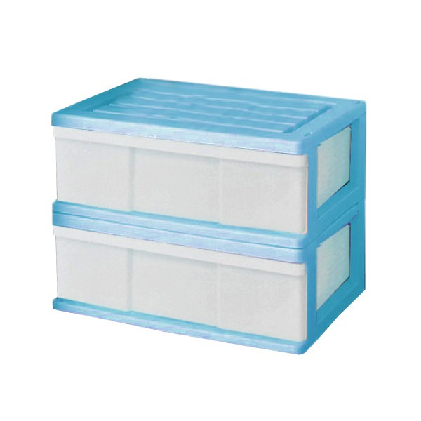 収納ケース 引き出し ワイド カラフルチェスト プラスチック 完成品 1段 2個組 幅60cm おしゃれ ブラウン 日本製|maxjapan-store|09