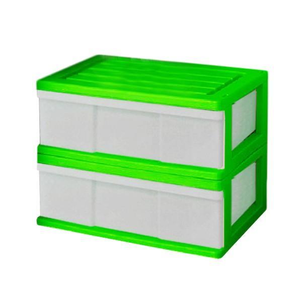 収納ケース 引き出し ワイド カラフルチェスト プラスチック 完成品 1段 2個組 幅60cm おしゃれ ブラウン 日本製|maxjapan-store|08