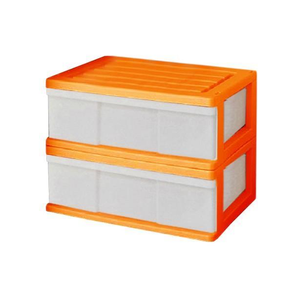 収納ケース 引き出し ワイド カラフルチェスト プラスチック 完成品 1段 2個組 幅60cm おしゃれ ブラウン 日本製|maxjapan-store|12