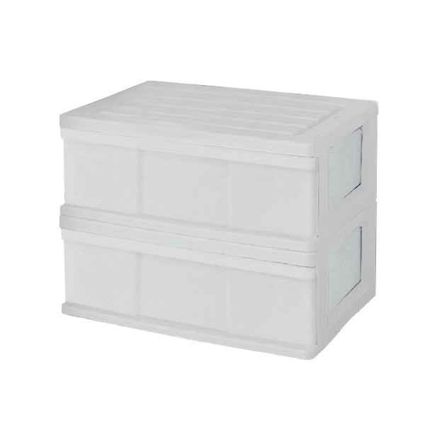 収納ケース 引き出し ワイド カラフルチェスト プラスチック 完成品 1段 2個組 幅60cm おしゃれ ブラウン 日本製|maxjapan-store|11
