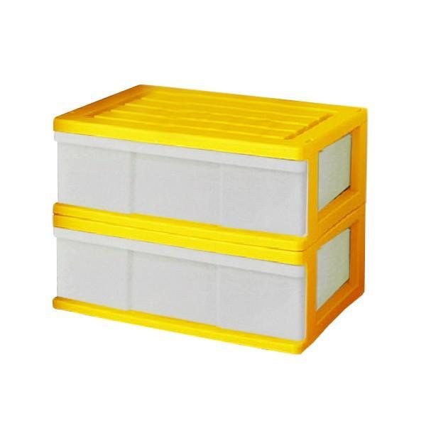 収納ケース 引き出し ワイド カラフルチェスト プラスチック 完成品 1段 2個組 幅60cm おしゃれ ブラウン 日本製|maxjapan-store|13