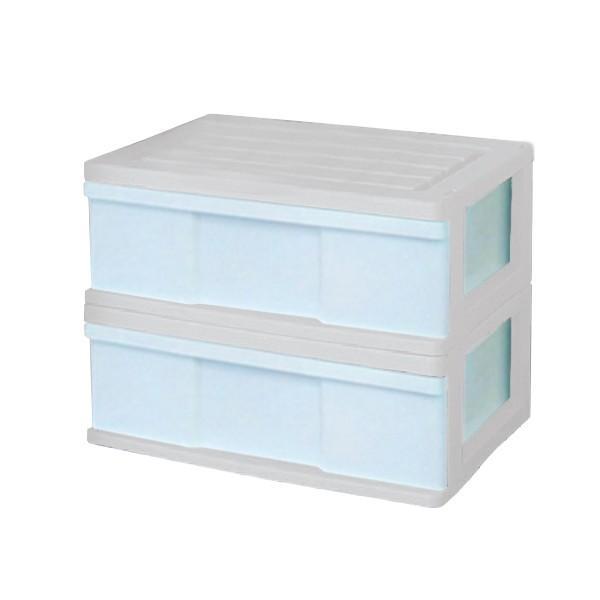 収納ケース 引き出し ワイド カラフルチェスト プラスチック 完成品 1段 2個組 幅60cm おしゃれ ブラウン 日本製|maxjapan-store|20