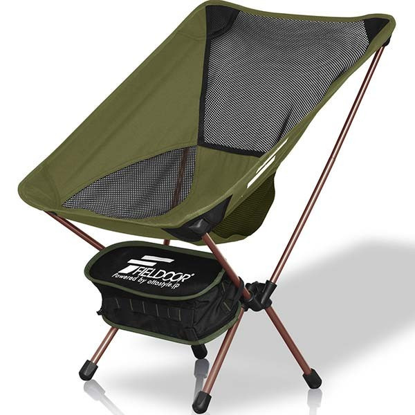 アウトドアチェア ポータブルチェア 椅子 折りたたみ 軽量 コンパクト おしゃれ アルミ製 キャンプ 釣り ロッカーベース ロッキングチェア FIELDOOR 送料無料|maxshare|24