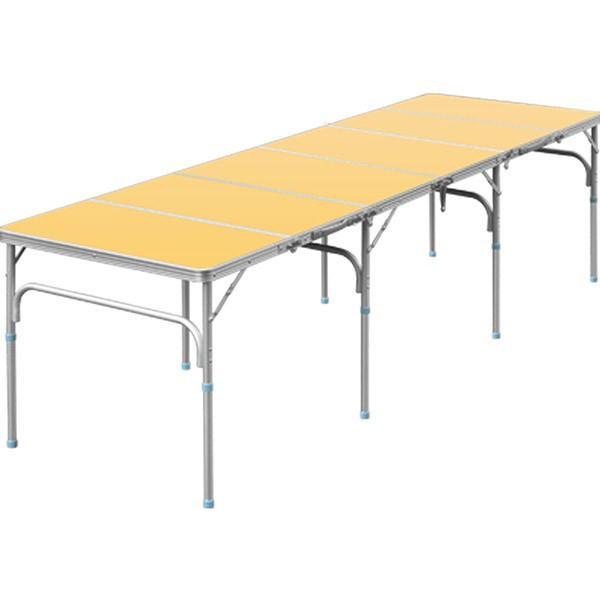 テーブル 折りたたみ アウトドア 折りたたみテーブル 六つ折り 収納式 アウトドアテーブル レジャーテーブル アルミ 製 高さ 調整 調節 送料無料|maxshare|06