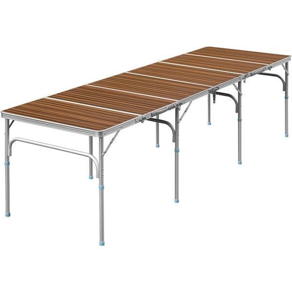 テーブル 折りたたみ アウトドア 折りたたみテーブル 六つ折り 収納式 アウトドアテーブル レジャーテーブル アルミ 製 高さ 調整 調節 送料無料|maxshare|08