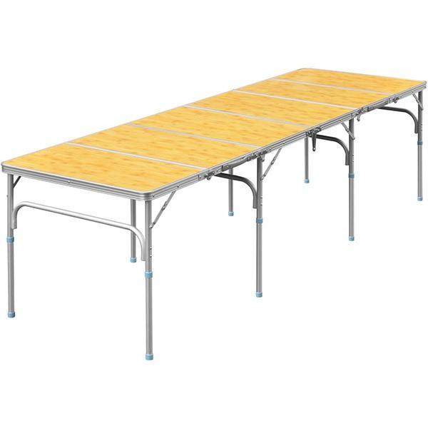 テーブル 折りたたみ アウトドア 折りたたみテーブル 六つ折り 収納式 アウトドアテーブル レジャーテーブル アルミ 製 高さ 調整 調節 送料無料|maxshare|09
