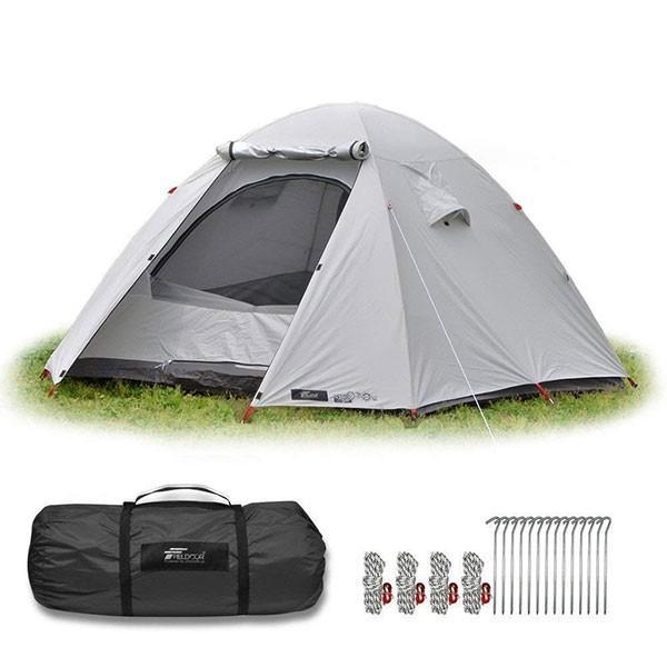 テント 4人用 ドームテント ドーム型 UVカット メッシュ フルクローズテント キャンプ アウトドア おしゃれ キャノピー 200x200 FIELDOOR 送料無料 maxshare 07