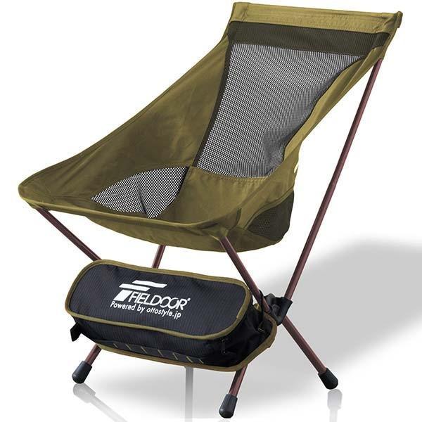 アウトドア チェア ポータブルチェア 椅子 折りたたみ 軽量 コンパクト アルミ製 ロッカーベース ロッキングチェア キャンプ 釣り 大きい FIELDOOR 送料無料|maxshare|24