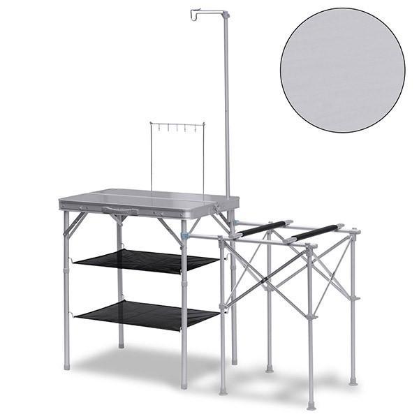 キッチンテーブル テーブル 折りたたみ アウトドア キッチン バーナースタンド キャンプ用 調理台 折りたたみテーブル 収納式 FIELDOOR 送料無料|maxshare|05