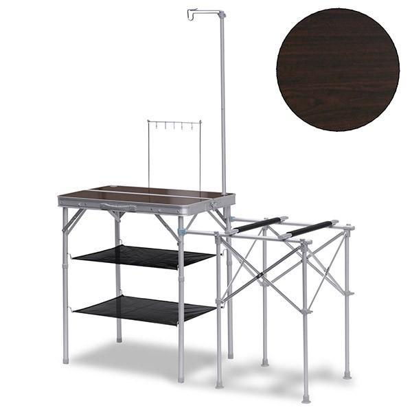 キッチンテーブル テーブル 折りたたみ アウトドア キッチン バーナースタンド キャンプ用 調理台 折りたたみテーブル 収納式 FIELDOOR 送料無料|maxshare|06
