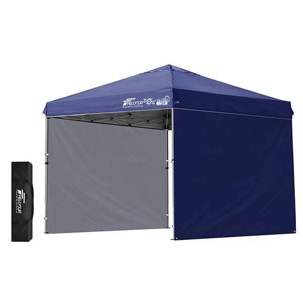 テント タープ タープテント 2.5m サイドフレーム強化版 ワンタッチ ワンタッチテント ワンタッチタープ 日よけ イベント サイドシート2枚 FIELDOOR 送料無料|maxshare|08